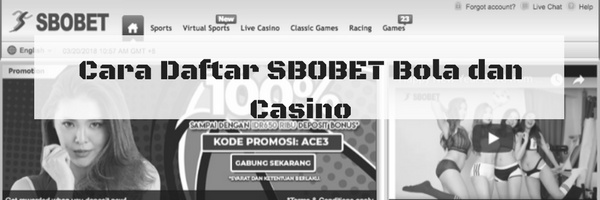 daftar akun judi Sbobet online